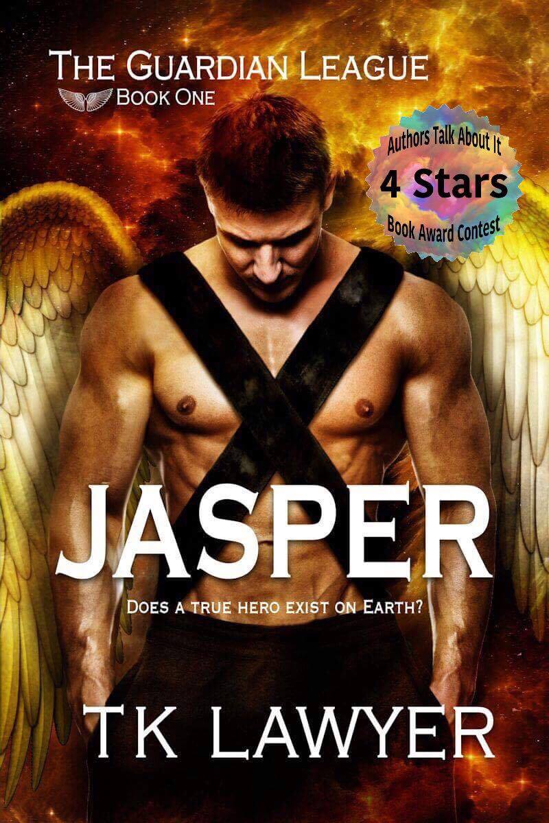 Jasper Book Cover with 4 Star Review Digital badge